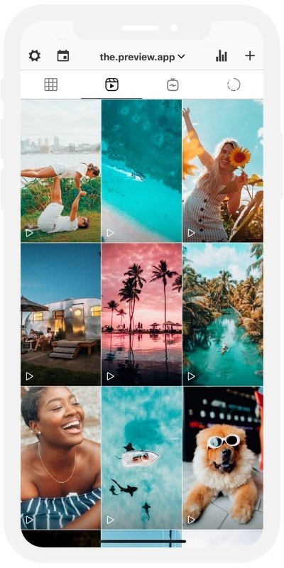 Instagram Reels Planner in Preview app