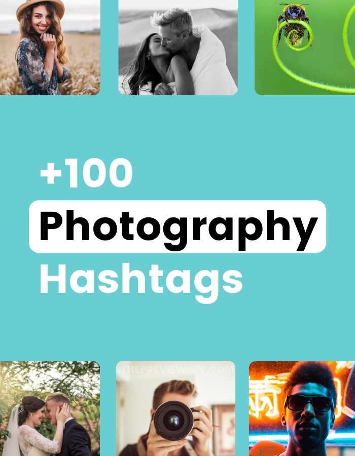 +100 Instagram photography hashtags in Preview app (phone + desktop computer)