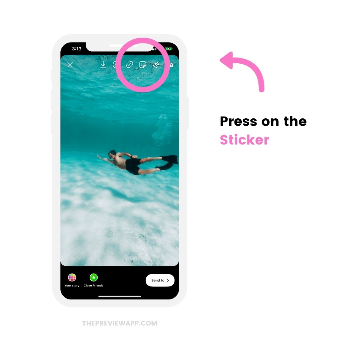 How to Schedule Instagram Stories with Stickers using Preview