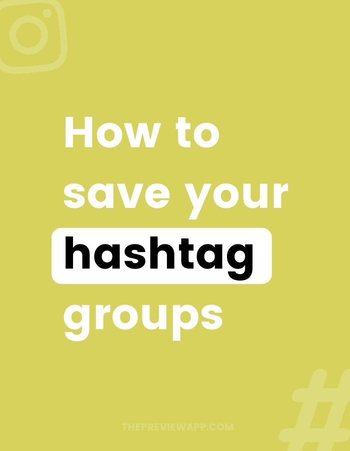 How to save Instagram hashtag groups in Preview