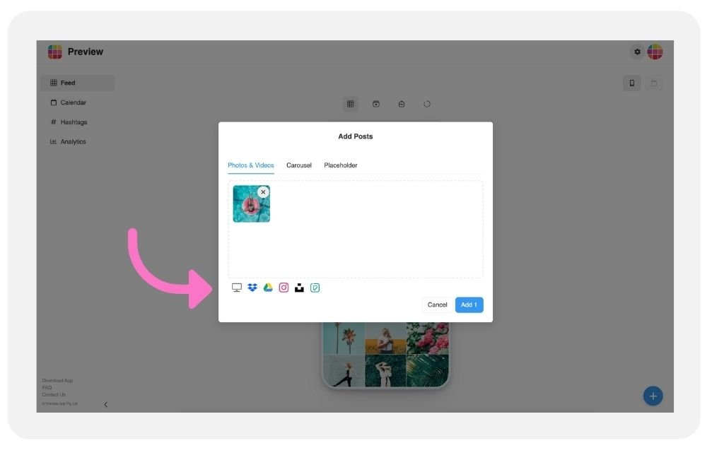 How to schedule Instagram posts from Desktop with Preview