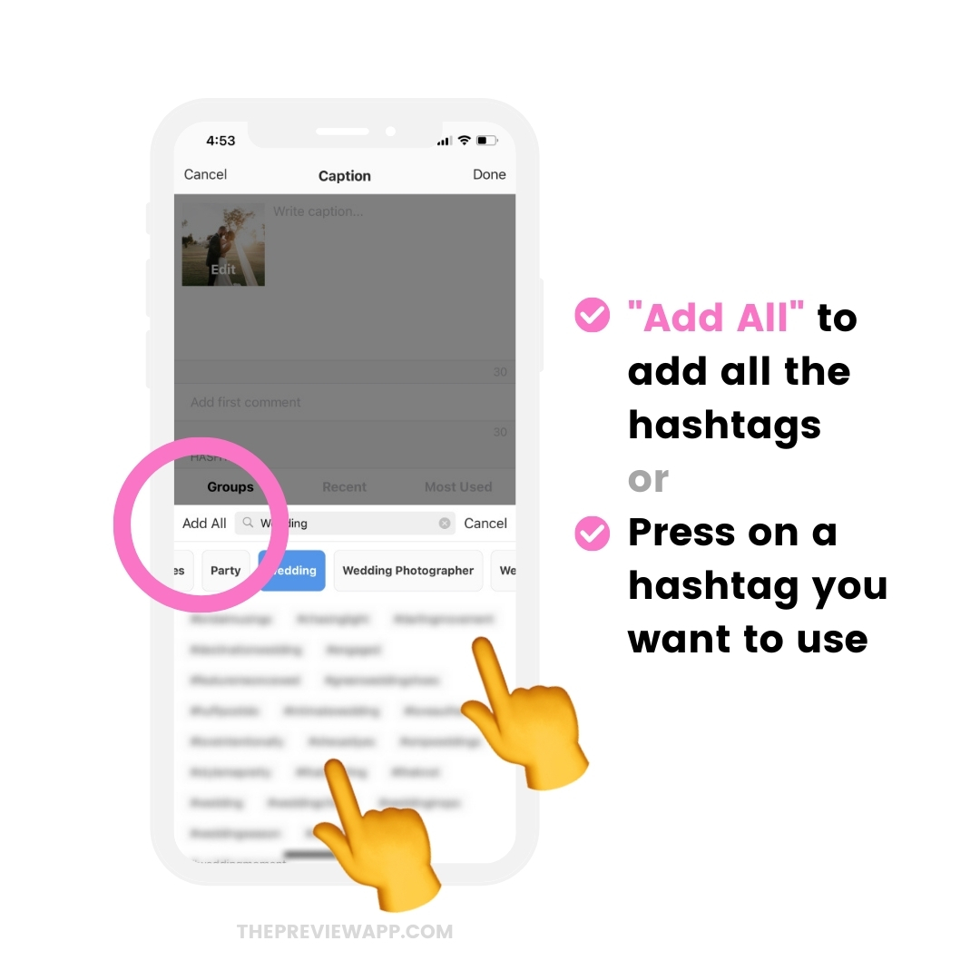 Instagram Hashtags for Wedding Photographers