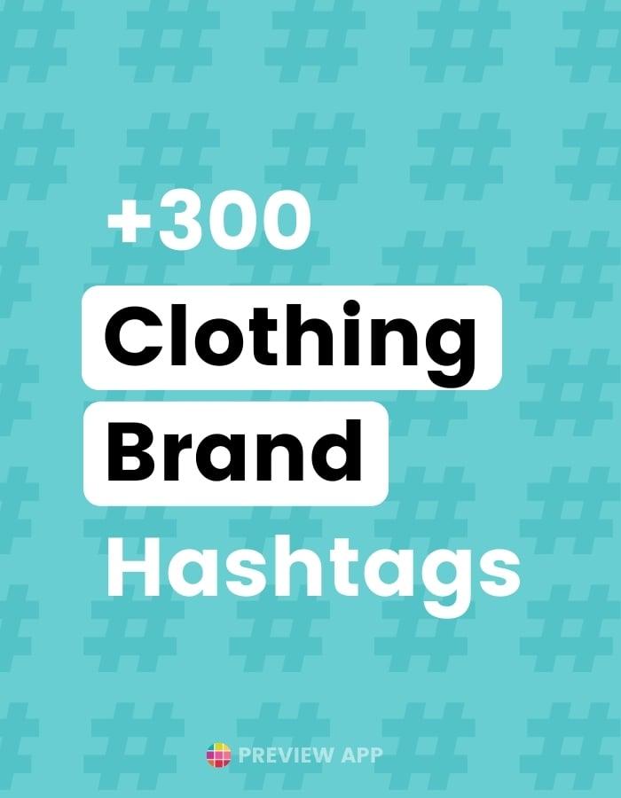 Best Instagram hashtags for clothing brand