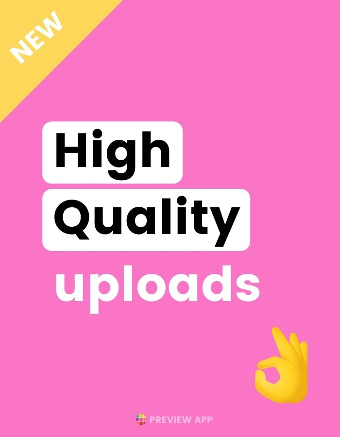 How to upload high quality photos and videos on Instagram? (new settings!)