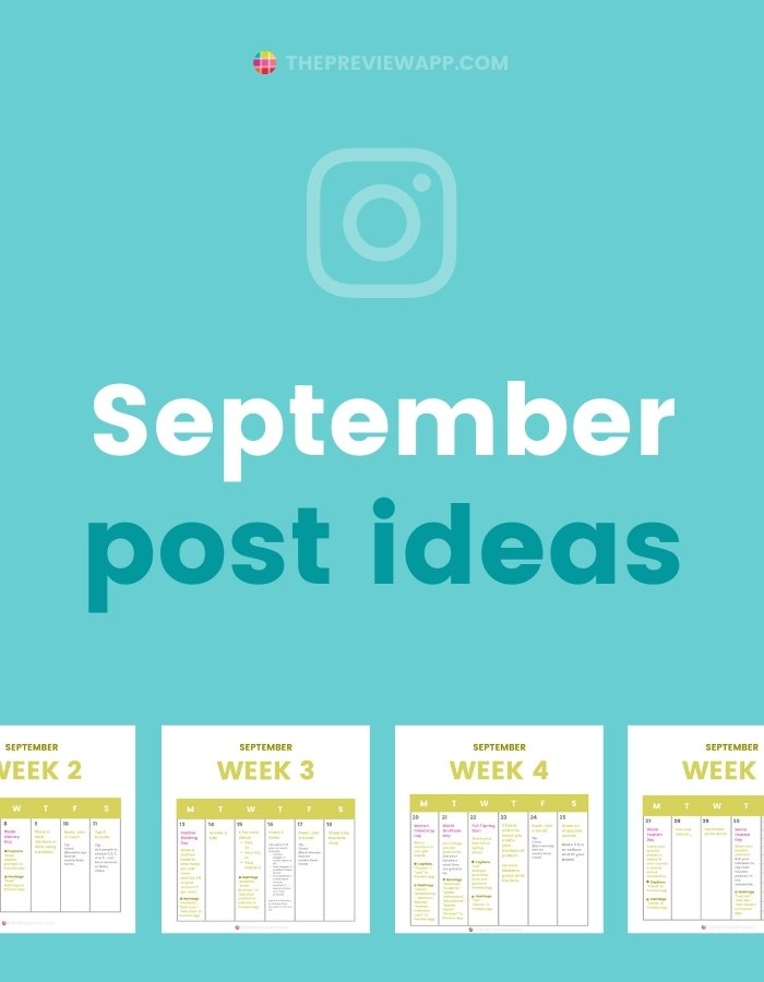 September Instagram post ideas and content plan strategy